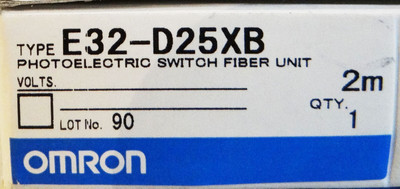 Omron E32-D25XB    2m    Photoelectric Switch Fiber Unit – Bild 2