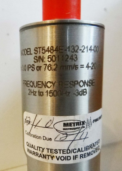 Metrix ST5484E-132-214-00  5011243  Vibration Transmitter -unused- – Bild 2