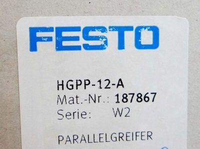 FESTO  HGPP-12-A   187867   Serie: W2   Parallelgreifer – Bild 3