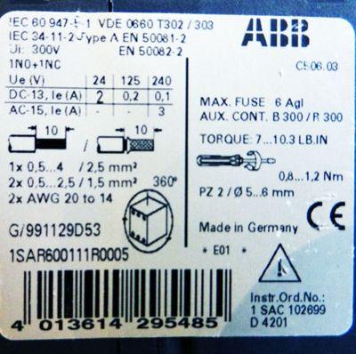 ABB C506.03 Thermistor Motorschutzrelais 1SAR600111R0005 – Bild 2