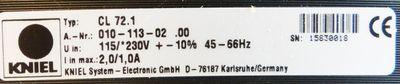 KNIEL Primärschaltregler CL72.1    010-113-02    01011302  -unused- – Bild 2