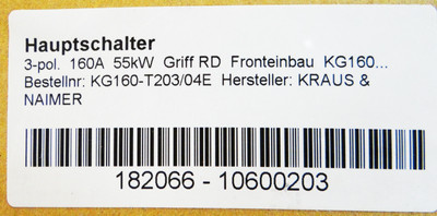 Kraus & Naimer KG160.T203/04.E    Hauptschalter – Bild 3