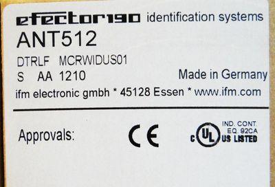 IFM efector190 ANT512 DTRLF MCRWIDUS01 S AA 1210  Lese-/Schreibkopf -unused/OVP- – Bild 2