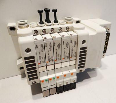 SMC 5-Port + 1x VQC1301N-51 + 3x VQC1101NY-5  + 1x VQC1A01N-51 -used- – Bild 1