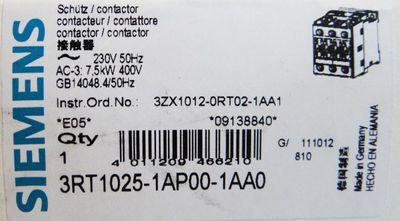Siemens SIRIUS 3RT1025-1AP00-1AA0  3RT1 025-1AP00-1AA0  E: 05 -OVP- – Bild 2