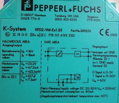 Pepperl+Fuchs K-System Ventilsteuerbaustein KFD2-VM-Ex1.35  033925 -unused/OVP- – Bild 3