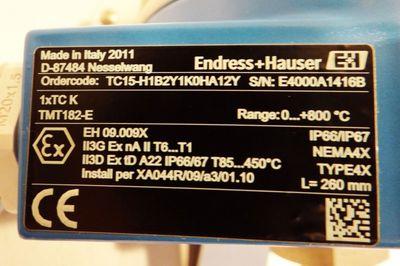 Endress Hauser TC15 TC15-H1B2Y1K0HA12Y  Range: 0...800C -unused- – Bild 2