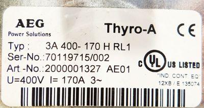 AEG Thyro-A 3A 400-170 HRL1 3A400-170HRL1 2000001327 U=400V I=170A 3-Ph. -used- – Bild 2