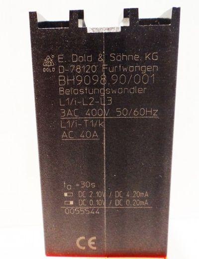 E. Dold BH9098.90/001 3AC 400V 50/60Hz  AC 40A Belastungswandler – Bild 2