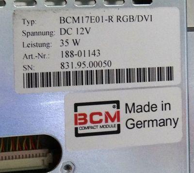 "RITTAL TFT Monitor 17"" SM 6450.160  Typ: BCM17E01-R RGB/DVI – Bild 3"