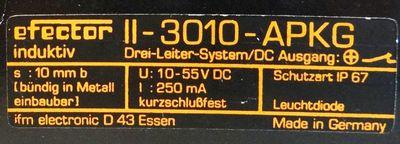 ifm efector-Induktiv II-3010-APKG   II3010 - APKG  elektronischer Annäherungsschalter – Bild 2