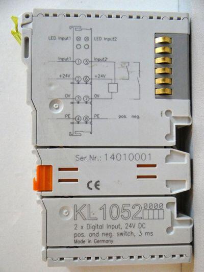 BECKHOFF Busklemme KL1052-0000  KL 1052-0000  2-Kanal Digital Eingang -used- – Bild 1