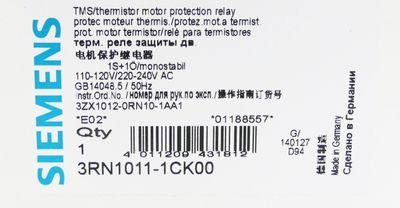 Siemens SIRIUS 3RN1011-1CK00 3RN1 011-1CK00 E: 02 Motorschutzrelais -unused/OVP- – Bild 3