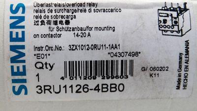 Siemens Sirius 3RU1126-4BB0 3RU1 126-4BB0  E-Stand: 01 -unused/OVP- – Bild 3