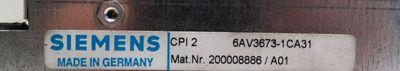 Siemens 6AV3673-1CA31  6AV3 673-1CA31  E-Stand: A01  -OVP- – Bild 3