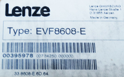 Lenze 8600 EVF 8608-E EVF8608-E 00395978 Frequenzumrichter -unued/closed OVP- – Bild 3