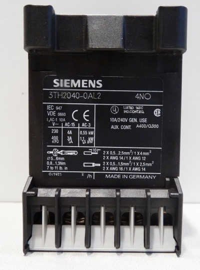 Siemens 3TH2040-0AL2 3TH20 40-0AL2 E-Stand: 05 -unused/OVP- – Bild 3