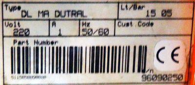 Harton Dosierpumpe DL MA DUTRAL DLMADUTRAL  Lt/ Bar 15-05 -used- – Bild 2
