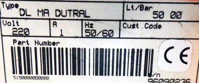 Harton Dosierpumpe DL MA DUTRAL DLMADUTRAL Lt/Bar 50 00 -unused- – Bild 2