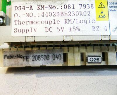 GOSSEN-METRAWATT DS4-A KM-No.: 081 7938 Temperaturreglerkarte -used- – Bild 2