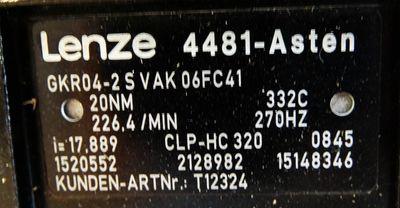 Lenze GKR04-2SVAK06FC41 MC8-06F41-R80P1-ZOCU-8T5800N-R08U Servomotor -Neu- – Bild 3