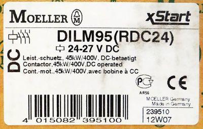 Moeller DILM95 239510 (RDC24 ) 24-27VDC Contactor -unused/OVP- – Bild 3