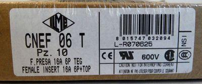 Ilme Buchseneinsätze CNEF 06 T VE: 10 Stück  -sealed - in OVP – Bild 1