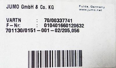 "JUMO 701130/0151-001-02/205,056 TW""O"" Art.-No. 70/00337741 Temperaturbegrenzer -neu/OVP- – Bild 3"
