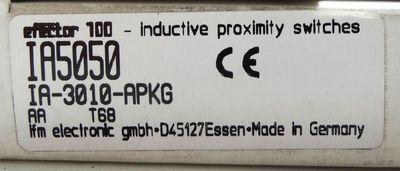 ifm efector100  induktiver Nährungsschalter IA5050 IA-3010-APKG Neu / OVP – Bild 1