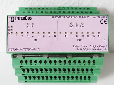 Phoenix Contact IB STME 24 DIO 8/8/3-2A-MB 2731209 + IB ST 24 DIO 8/8/3-2A-MB 2731144 -used- – Bild 2