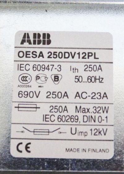 ABB OESA 250DV12PL Sicherungsmotorschalter -used- – Bild 2