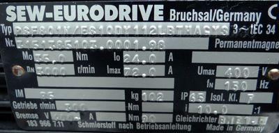 SEW-Eurodrive Servomotor PSF801N/ES10DY112LBTHAGYS Planetengetriebe – Bild 3