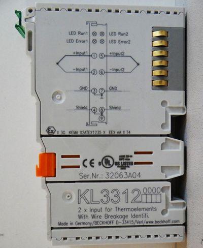 BECKHOFF KL3312-0000 2 Kanal Eingangsklemme  -unused/OVP- – Bild 2