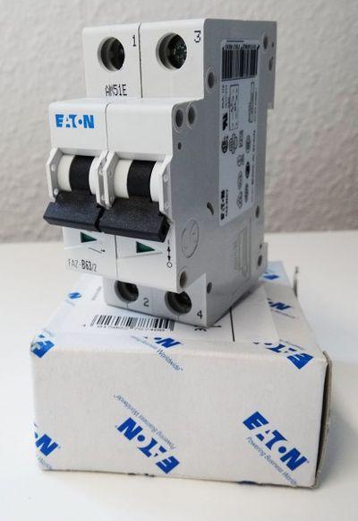 Eaton Moeller FAZ-B63/2 63A 2 Pol. 278740 Leitungsschutzschalter -unused/OVP- – Bild 1
