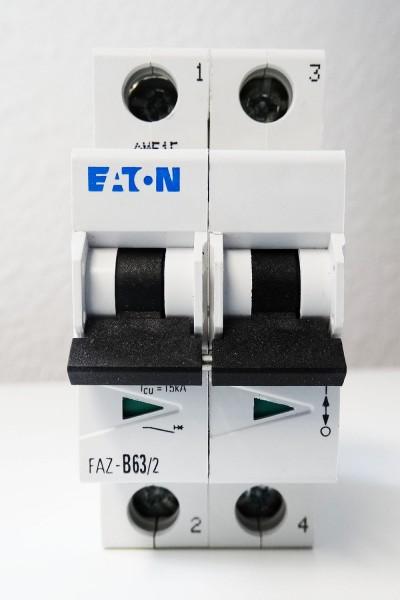Eaton Moeller FAZ-B63/2 63A 2 Pol. 278740 Leitungsschutzschalter -unused/OVP- – Bild 2