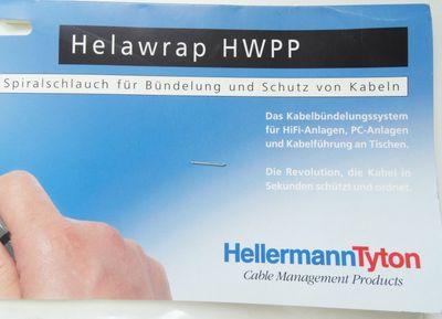 Helawrap Tyton HWPP 2m Spiralschlauchbündelung Kabelschutz -unused/OVP- – Bild 2