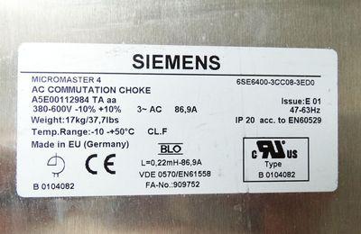 Siemens Micromaster 4 6SE6400-3CC08-3ED0  6SE6 400- 3CC08-3ED0 E: 1 -used- – Bild 2