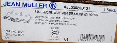 Jean Müller SASIL-PL00/N31/AL-H/1W100-5MS/SKL/MD/NC+NO/ES07 A5L03023D121 Lasttrennschalter -used/OVP- – Bild 2