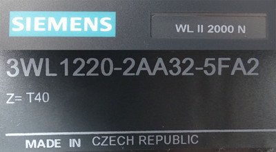 SIEMENS 3WL1220-2AA32-5FA2 3WL1 220-2AA32-5FA2 CIRCUIT BREAKER – Bild 3