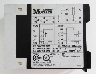 Klöckner Moeller TE 69-A TE69A  0,05s-60h Zeitrelais -used- – Bild 3