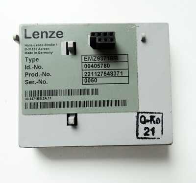Lenze EMZ9371BB ID.No.00405780 Bedienmodul Operator Panel -used- – Bild 2