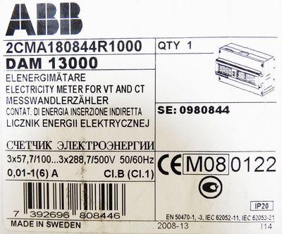 ABB DAM 13000 Messwandlerzähler 2CMA180844R1000 -used- – Bild 3