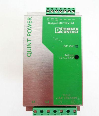PHOENIX CONTACT Netzteil Quint-PS-3x400-500AC/24DC/5 Output DC 24V 5A used – Bild 3