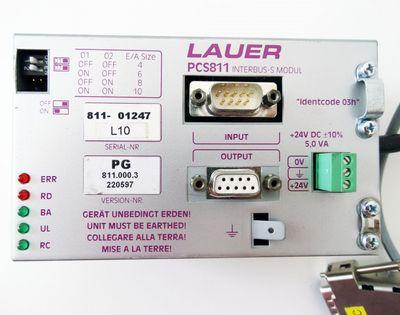 Lauer PCS811 Interbus S Modul mit Kabel  PG811.000.3  gebraucht / used – Bild 1