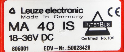 Leuze electronic MA 40 IS MA40IS Modulare Anschalteinheit  -used- – Bild 2