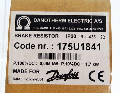 Danfoss / Danotherm 175U1841 Bremswiderstand IP20 425Ohm 1,7 kW -unused/OVP- – Bild 2