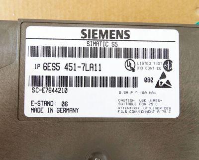 Siemens 6ES5 430-7LA11 6ES5430-7LA11 6ES54307LA11 E-Stand: 06 -used- – Bild 1