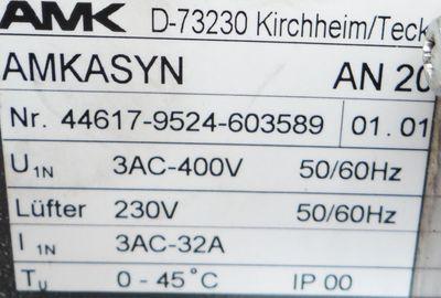 AMK AN 20F Netzmodu Servo Drive 44617-9524-603589 – Bild 2
