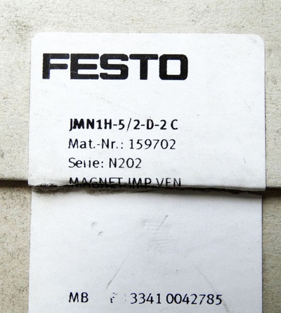 FESTO Magnetventil JMN1H-5/2-D-3C 159702 Serie: N202  unbenutzt in OVP – Bild 2