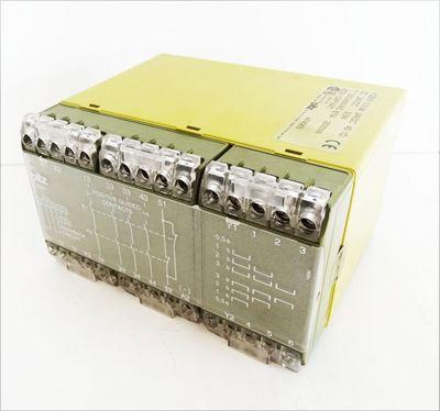 Pilz PZE5V 0,5-3s, 24VDC  8/5A Sicherheitsrelais 4S 1Ö Typ 474965 -used- – Bild 1